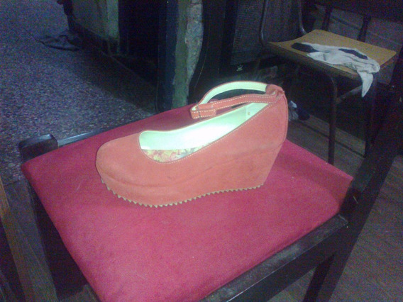 Zapatos De Mujer 39 Taco Chino De Gamuza Plataforma