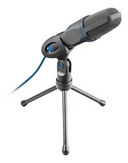 Microfono Mico Usb Para Pc Y Portatil Azul Trust 23790