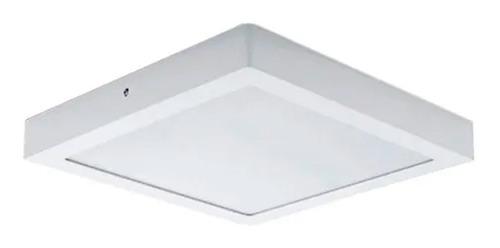 Panel Plafon Led 6w Blanco Frio Aplicar Cuadrado