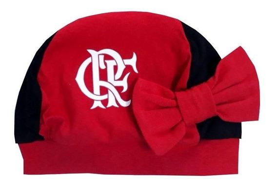 Gorro Bebê Flamengo Lacinho Oficial