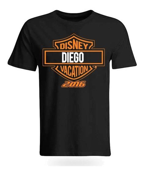 Playera O Camiseta Personalizada Harley Davidson Familia