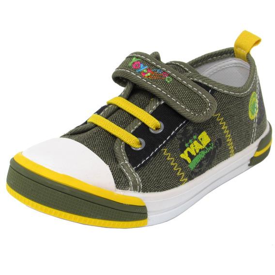 Zapatos Niños Marca Yoyo L7025 Verde 25-30. Envío Gratis