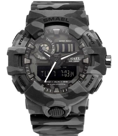 Relógio Smael Masculino Militar Digital Esportivo Original