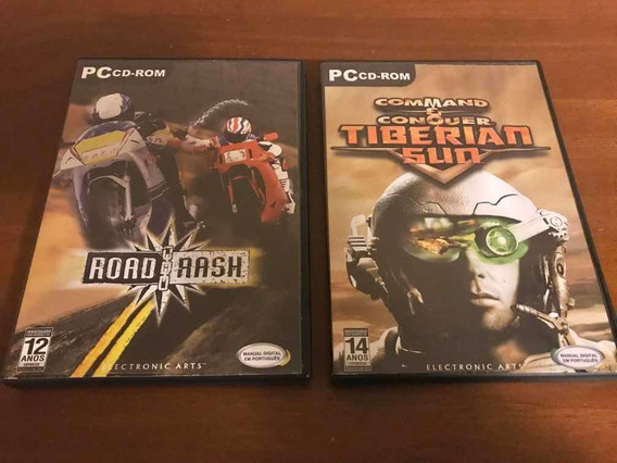 Lote Jogos De Pc Cd Rom Road Rash E Commando Conquer Tiberia