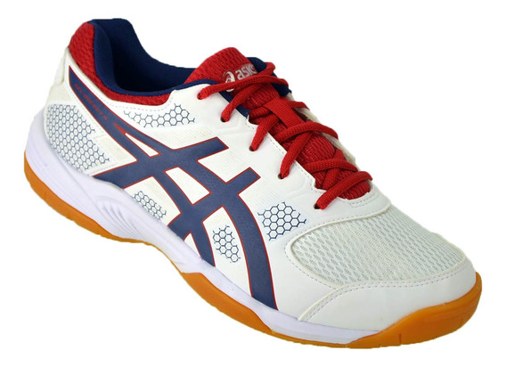 Zapatilla Asics Gel Rocket Indoor Original Bco/azu