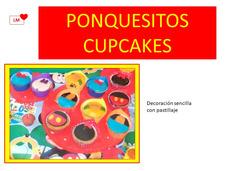 Lm411cupcakes Ponquesitos Decorados Gelatinas Arlequin Lm411