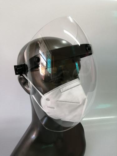 Protector Facial Burbuja Acrílico 2mm Visor Abatible Antiemp