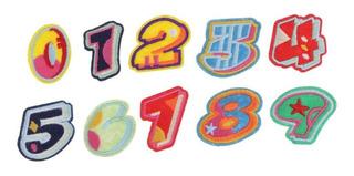 10x Bordado 0-9 Número Parches Estrella Apliques Tela Jean