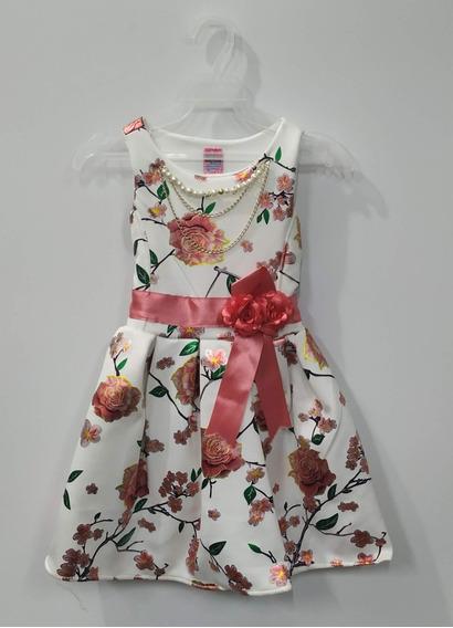 Vestido Floreado Fiestas Formales Primavera Verano Niña