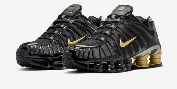 Nike Shox Tl1 2019 Triple Black 12 Molas Original
