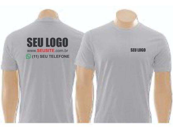 2 Camiseta Uniforme Empresas Personalizada Com Seu Logo