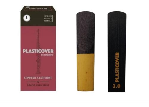 Palheta Rico Plasticover Para Sax Soprano 2