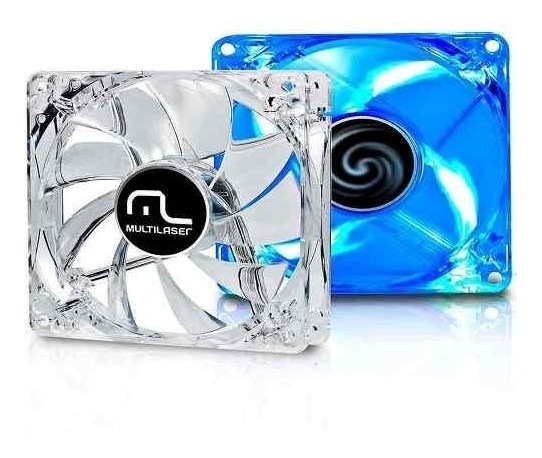 Ventilador Cooler Para Fan Led Azul 120x120 Multilaser
