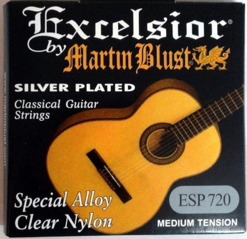 Imagen 1 de 7 de Encordado Criolla Excelsior Silver Martin Blust Esp720