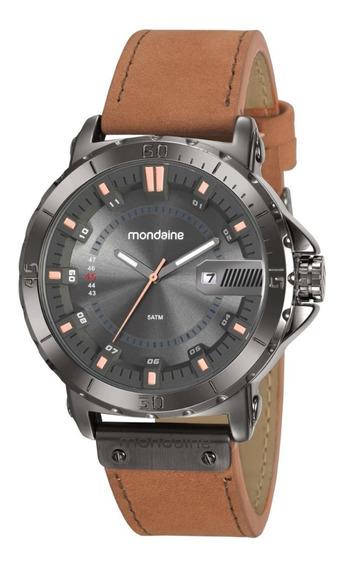 Relógio Mondaine Masculino Couro Analógico Original + Nf