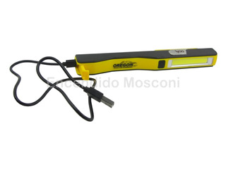 Linterna Recargable Usb Led Cob Trabajo Emergencia Oregon
