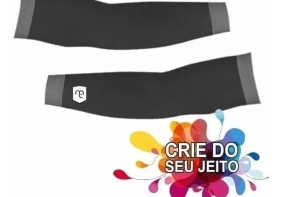 Kit 100 Pares De Manguitos Personalizado Com Sua Logomarca