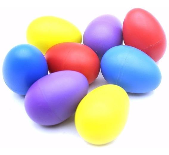 Kit Com 40 Ovinhos Ganza Colorido Chocalho Eggs