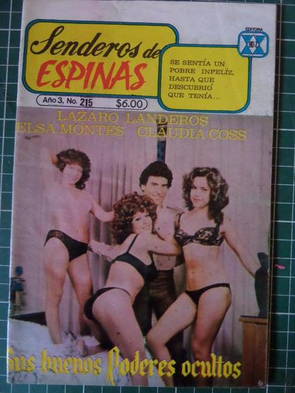 Revista Senderos De Espinas Fotonovela Vedets