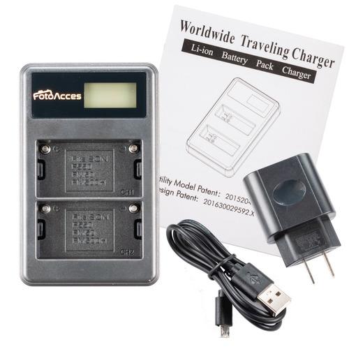 Cargador Baterias Doble Tipo Sony Np F570 F770 F950 F970