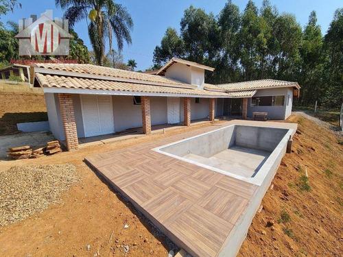 Imagem 1 de 14 de Linda Chácara Com 03 Dormitórios, Piscina, Bom Padrão De Construção, Bem Localizado, À Venda, 1500 M² Por R$ 500.000 - Zona Rural - Pinhalzinho/sp - Ch0970