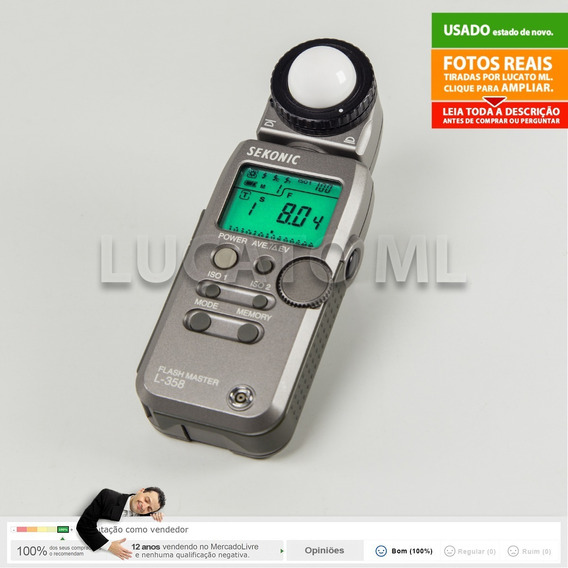 Sekonic L358 Fotometro + Capa + Alça + Bateria Cr123a | 2b