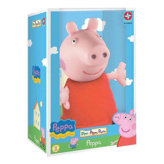 Pelúcia Peppa Pig Cabeça De Vinil - Estrela Estrela