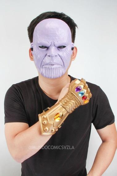 Combo De Mascara Y Guantelete Thanos Para Niños