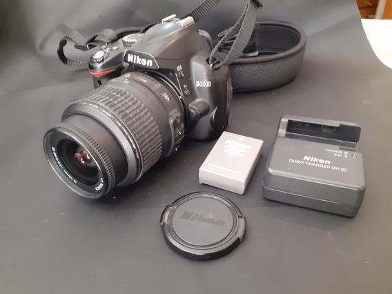 Câmera Nikon D3000 Com Lente 18-55mm