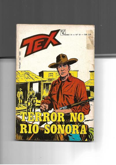 Tex N. 31 - Terror No Rio Sonora - 1a.edição - Vecchi -