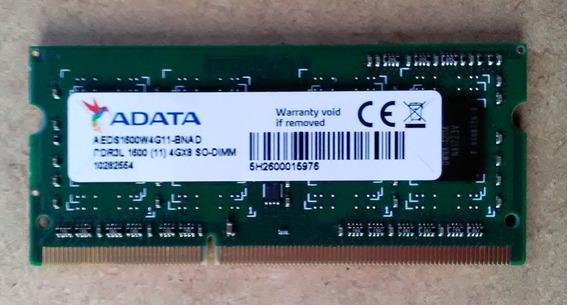 Memoria 4gb Ddr3 Adata Para Notebook Pc-12800 - 1600mhz