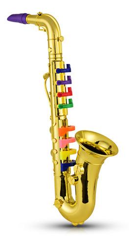 Imagen 1 de 8 de Saxofón Niños Musical Instrumentos De Viento Abs Metálico