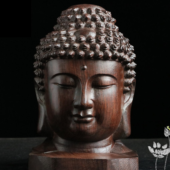 Talla De Madera Original De Buda Estatua Craft Escritorio