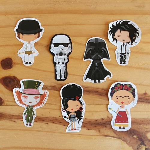 Imagen 1 de 1 de Pack De 21 Stickers - Personajes Clásicos