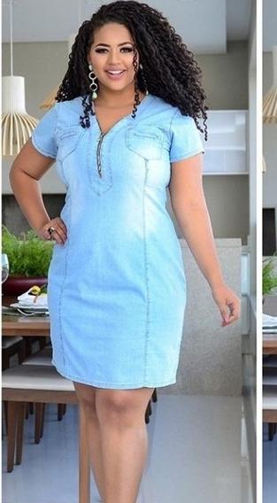 Vestido Jeans Plus Size Barato Roupas Evangelica Femininas
