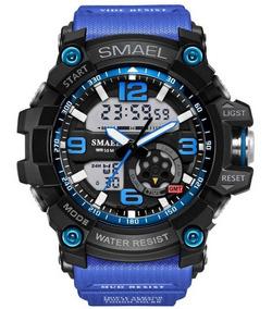 Relógio Smael Masculino Analóg./dig. Quartzo Grande Azul
