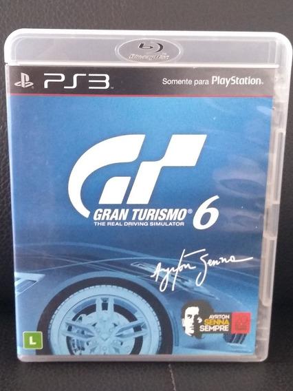 Gran Turismo 6 Ps3 Conservado Colecionador Ayrton Senna