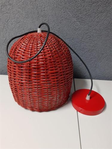 Brimpex 31 Lampara De Techo Mimbre Roja
