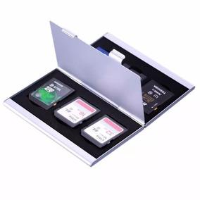 Hard Case Aluminio Porta Cartão Memoria Sd Sdhc Estojo Top