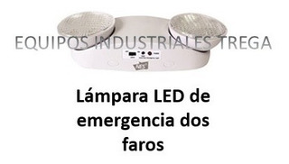 Lampara Led De Emergencia Dos Faros Ajustable