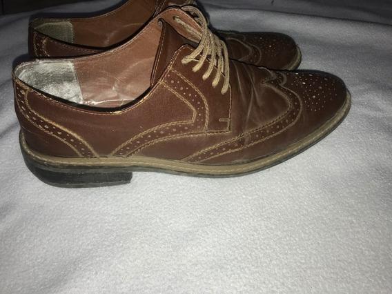 Zapatos De Vestir Hombre Eco Cuero 42/43 Importados Usa 9.5