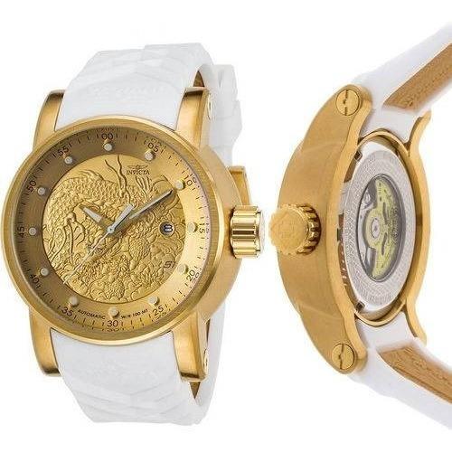 Relógio Invicta Yakuza S1 Hally 19546 Dourado Branco