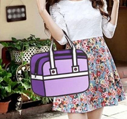 Bolso Cartera Diseño 2d 3d Cartoon Bag Handbag Importada 4