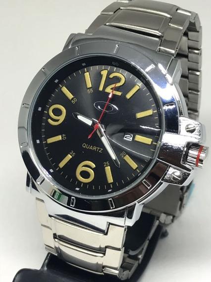 Relógio Lançamento Promoção Aço Exclusivo + Caixa + Brinde.