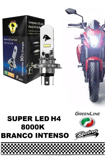 Lampada Led H4 Moto Ultra Branco Efeito Xenon 8000k