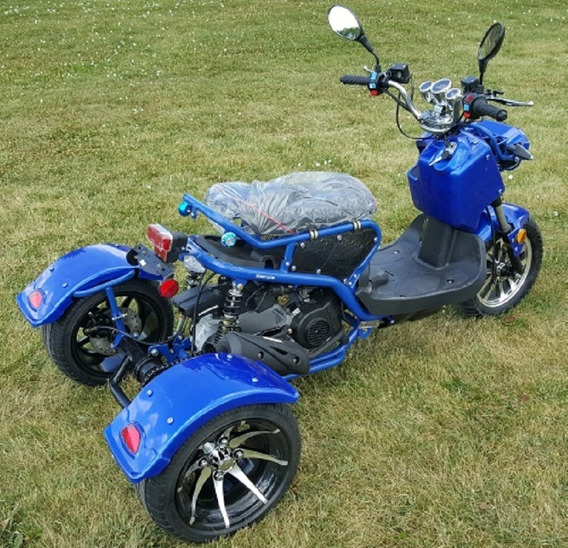 50cc Trike Mean Dogg Ii Scooter Gas Moped