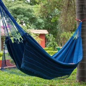 Rede De Dormir Descanso Balanco Resistente Jeans Pronta Entr