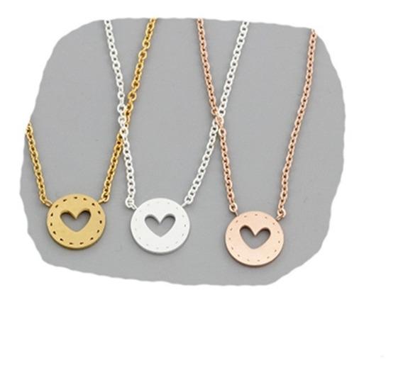 Corazon Heart Collar Cadena Con Dije Mujer Niña Tierna E.gr
