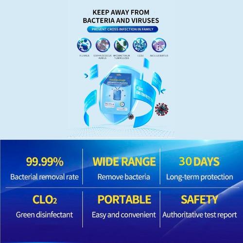 Tarjeta De Desinfección De Virus Blocker Certificado Fda-ce