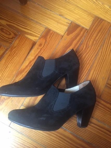 Zapatos De Gamuza Negros Para Mujer N° 38